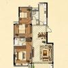 3#楼花园洋房标准层G2户型图