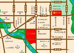 鲁山锦沅竹桂园位置交通图