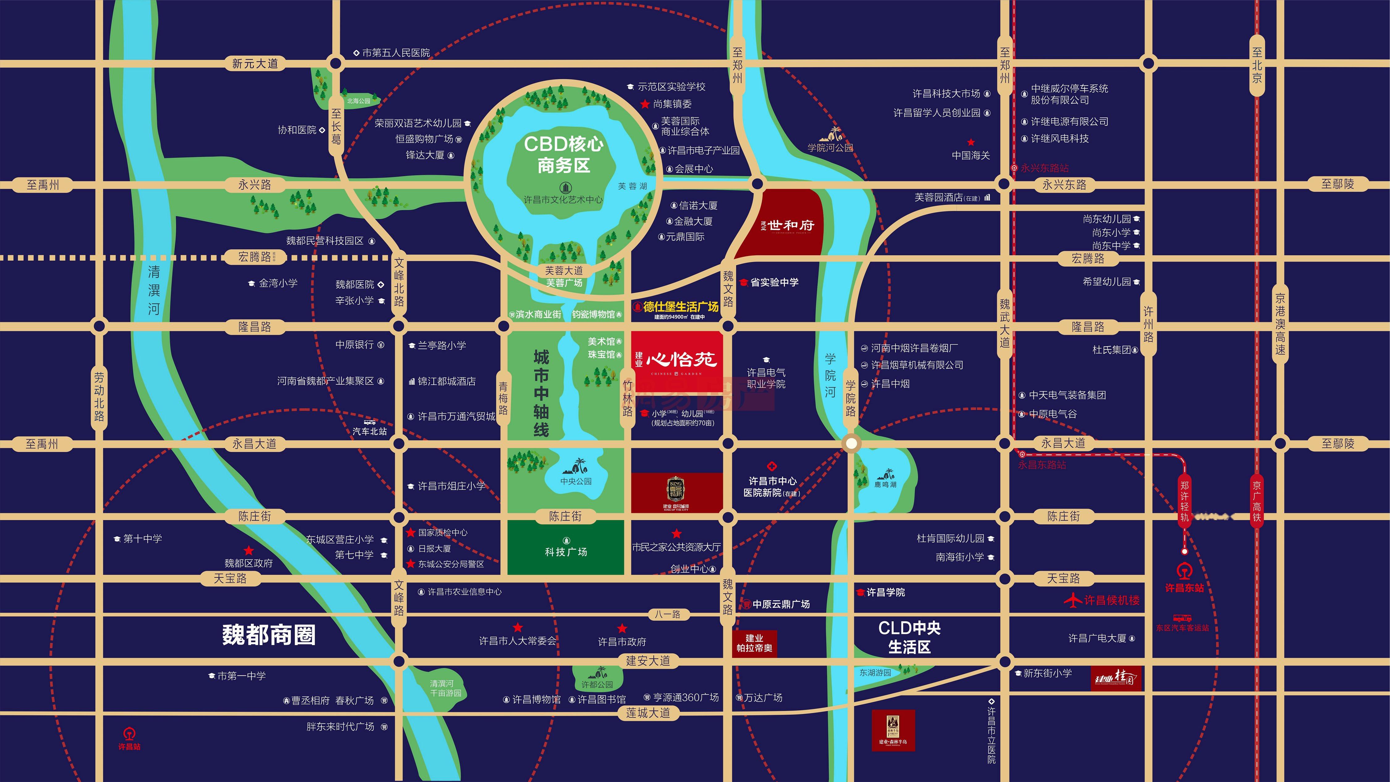 建业府位置交通图