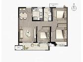 享·自在, 3室2厅1卫1厨, 建筑面积约94.00平米