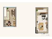 152㎡上叠阁楼与地下室