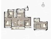 享·闲适, 4室2厅3卫1厨, 建筑面积约165.00平米