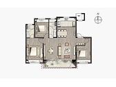 享·逸趣, 3室2厅2卫1厨, 建筑面积约130.00平米