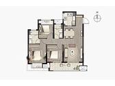 享·进取, 3室2厅2卫1厨, 建筑面积约106.00平米