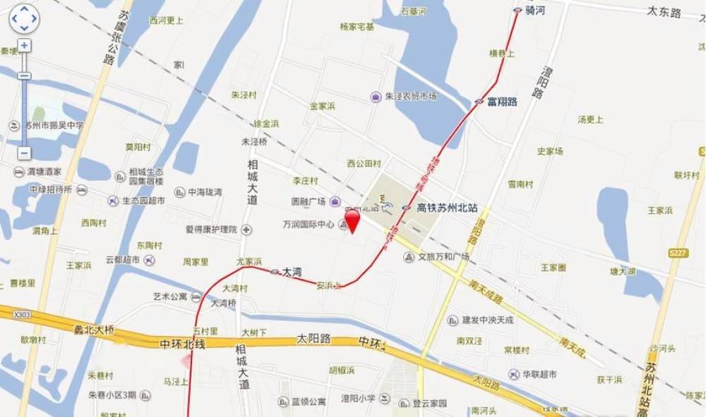 天成时代商务广场位置交通图
