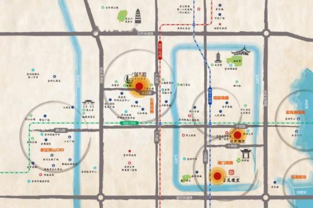 天房留风园位置交通图