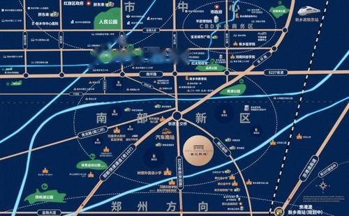宸良南苑新城位置交通图